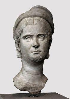 (c. 249-251 CE) Imperial Portrait of Herennia Etruscilla, wife of Emperor Decius, and mother of Emperors Herennius Etruscus and Hostilian.