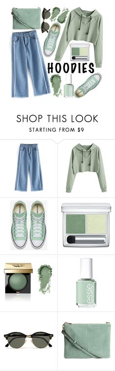"""""""Hoodies: Green Pastel"""" by cm-christy ❤ liked on Polyvore featuring RMK, Bobbi Brown Cosmetics, Essie and Ray-Ban"""