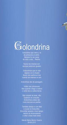 Golondrina - Andorinha - Comentario a nossa grande Sara Rosa. - Encontro de Poetas e Amigos