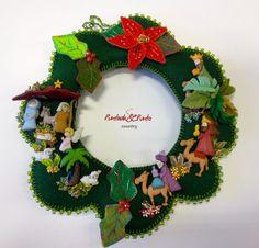 Grace Fallas Fallas's media content and analytics Nativity Crafts, Christmas Nativity, Felt Christmas, Christmas Time, Christmas Wreaths, Christmas Crafts, Christmas Decorations, Christmas Ornaments, Holiday Decor