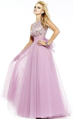 Pastel Princess: Lilac, Empire-Cut Tulle Gown by Sherri Hill