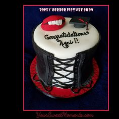Rocky Horror Picture Show themed graduation cake