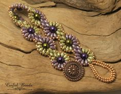 SUPERDUO DAISY CHAIN Bracelet-Ultra Luster by CinfulBeadCreations