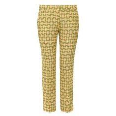 Aspesi Printed Silk Cropped Trousers