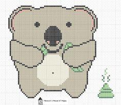 hancock's house of happy: Hungry Koala Cross Stitch Chart to Celebrate 101st