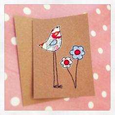 Fabric on card