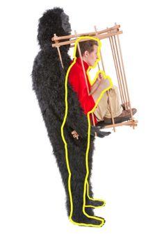 Man in a Gorilla Cage Costume