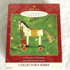 2000 Hallmark Keepsake Ornament A Pony For Christmas New