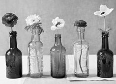 old jars and pretty flowers...