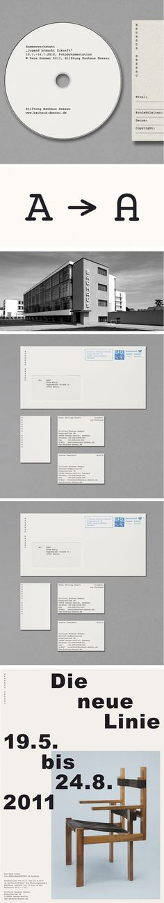bauhaus_new identity  HORT's concept for a new identity for the Bauhaus Dessau Foundation, relates more to the original ideas of Germany's most influential Modernist school instead of relying on the visual clichés connected to Bauhaus.