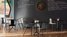 Belleville Chair by Ronan & Erwan Bouroullec Cafe Tables, Cafe Chairs, Dining Chairs, Dining Table, Ronan & Erwan Bouroullec, Belle Villa, Design Studio, Lounge, Design Furniture