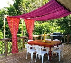 Awesome DIY Backyard Shade Ideas 20 Easy Ways To Create Shade For Your Deck Or Patio Diy Outdoor - The most vital part in any yard landscaping suggestion i Deck Shade, Backyard Shade, Outdoor Shade, Backyard Canopy, Canopy Outdoor, Backyard Patio, Garden Canopy, Balcony Shade, Canopy Tent