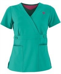 Peaches Med Couture Gold Milan Scrub Top