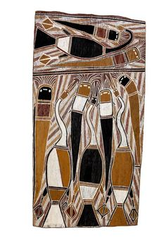 Aboriginal Bark Painting Aboriginal Art Animals, Aboriginal History, Aboriginal Painting, Aboriginal Culture, Indigenous Australian Art, Indigenous Art, Australian Aboriginals, Sacred Art, Outsider Art