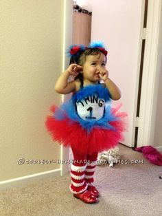 adorable one year old thing 1 and three year old thing 2 costumes