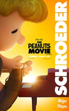 The Peanuts Movie poster of Schroeder