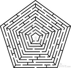 Illustration about Black vector labyrinth pentagon type. Illustration of design, forecast, enter - 8042862 Math Figures, Printable Mazes, Free Printables, Labyrinth Maze, Images Gif, Clip Art, Pentagon, Geometric Art, Image Photography