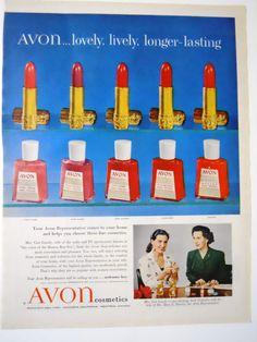 Retro Avon Nail and Lipstick  Magazine by mamiezvintage on Etsy, $8.95