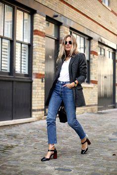 2015 Blazer | Zara  Jeans | Vintage Levis 501  Shoes | Topshop  T-shirt | LNA  Bag | Joseph
