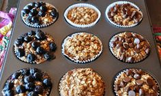 A LA GRAHAM: INDIVIDUAL BAKED OATMEAL CUPS- CLEAN EATING