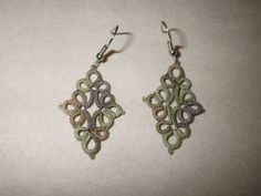What every well-dressed spy needs. :)  Camoflage tatted earrings by TattingByWendy, $17.00