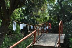 """""""The Washing Line"""" a perspective building exercise used to engage students. This is in Kamla Nehru Park."""