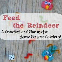 A cute craft idea turned into a counting and fine motor skills game for preschoolers!