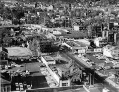 BBF, just before Burger Boy was built.  corner of Washington and Summers Sts.  Rose City Cafeteria in lower right corner