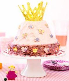 Deze mooie prinsessenverjaardagstaart, mag op een prinsessenfeestje niet ontbreken. #taart #traktatie #prinses