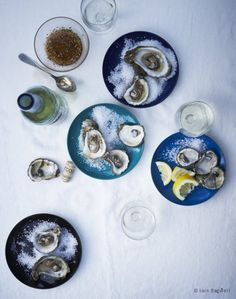 Oyster feast - with good vodka