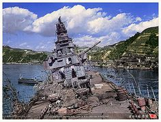 The battered and sunken hulk of the Japanese heavy cruiser Aoba after World War II group キリ Navy Coast Guard, Sea Of Japan, Heavy Cruiser, Imperial Japanese Navy, Ghost Ship, United States Navy, Navy Ships, Pearl Harbor, Submarines
