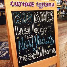 Big books last longer than New Year's resolutions.