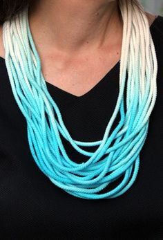 Make an easy dip-dye necklace for summer