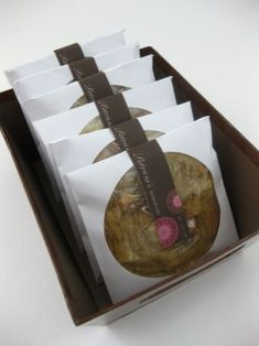 cookie packaging in paper cd sleeves. genius.