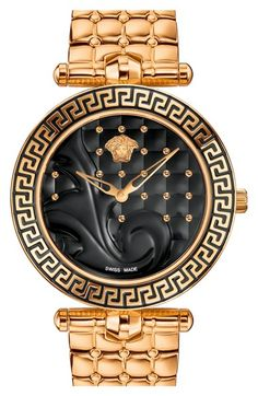 Versace 'Vanitas' Quilted Bracelet Watch, 40mm available at #Nordstrom