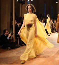 "2,759 Likes, 13 Comments - New York Times Fashion (@nytimesfashion) on Instagram: ""Alberta Ferretti FW17 @albertaferretti runway #MFW - photo by @leeoliveira"""