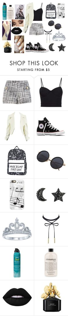"""""""🐼we could be heroes🐼"""" by kelsey-donaldson1 ❤ liked on Polyvore featuring Boutique Moschino, Alexander Wang, Converse, Casetify, Disney, Bumble and bumble, philosophy, Lime Crime and Marc Jacobs"""
