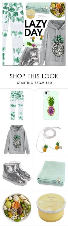 """Sleep In: Lazy Day"" by ansev ❤ liked on Polyvore featuring Casetify, Pier 1 Imports and LazyDay"