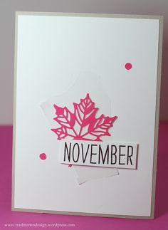 Stampin'up! November, Karten basteln, leafs, Blätter, neonpink