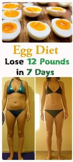 Egg Diet – Lose 12 Pounds in 7 Days