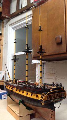 Movie version Surprise by Johncal - HMS Surprise - Build diaries - ModelSpace Model Sailing Ships, Old Sailing Ships, Wooden Model Boats, Wood Boats, Model Ship Building, Boat Building, Scale Model Ships, Scale Models, Boat Kits