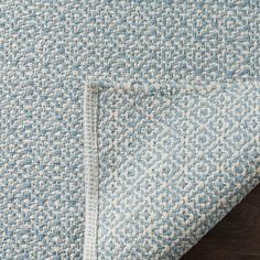 Light Blue Area Rug, Blue Area Rugs, Blue Rugs, Soothing Colors, Geometric Rug, Woven Rug, Rug Size, Hand Weaving, Cotton