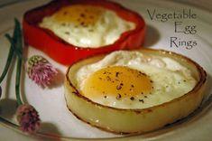 vegie egg ring 1 Brunch Recipes, Breakfast Recipes, Egg Rings, Cooking Recipes, Healthy Recipes, What's Cooking, Healthy Foods, Healthy Eating, Group Meals