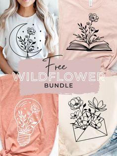 Free Svg, Cricut Craft Room, Flower Svg, Making Shirts, Cricut Tutorials, Cricut Creations, Diy Craft Projects, Wild Flowers, Cricut Design