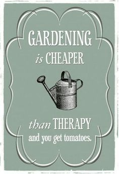 Gardening is therapy :)