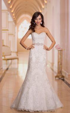Vestido de novia corte entallado :: Virtual Novia Book