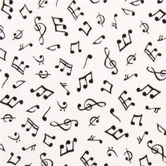 white mini music notes fabric by Timeless Treasures USA