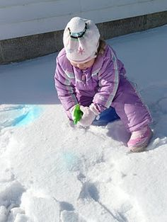 Snow Painting - Pinned by @PediaStaff – Please visit http://ht.ly/63sNt for all (hundreds of) our pediatric therapy pins
