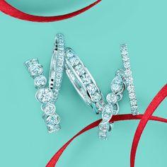 Tiffany Celebration rings with diamonds. #TiffanyPinterest