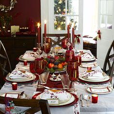 Dining Table Christmas Decorations From Room With Candles